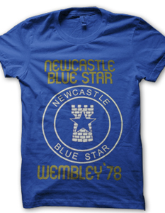 NEWCASTLE BLUE STAR WEMBLEY 1978 PRINTED T-SHIRT